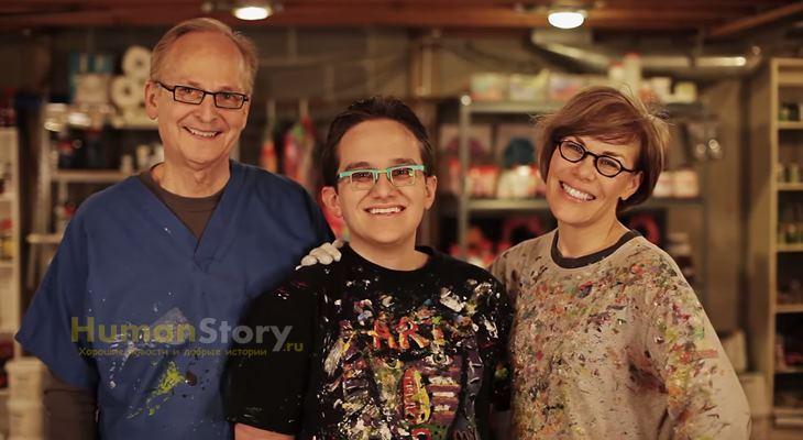 Джэфф Хэнсон - слепой художник, отдавший миллион долларов на благотворительность