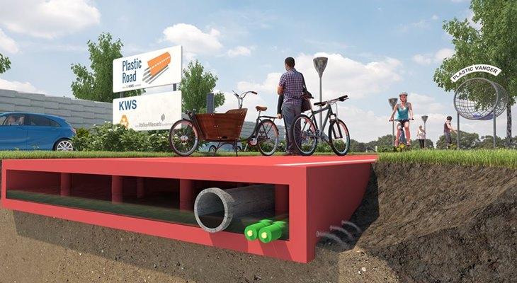 """У Нідерландах будуватимуть перші на планеті  """"вічні"""" пластикові дороги - фото 2"""