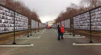 В Челябинске установили Стену Памяти со 100 тысячами фотографий