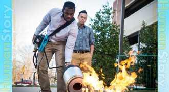 Студенты изобретают звуковой огнетушитель