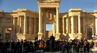 На развалинах амфитеатра Пальмиры выступил оркестр Мариинского театра
