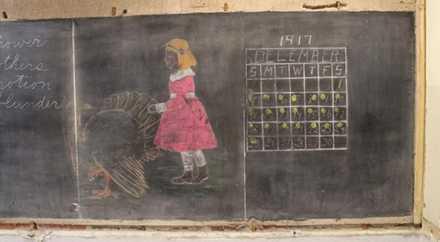 В американской школе нашли классные доски с надписями 1917 года