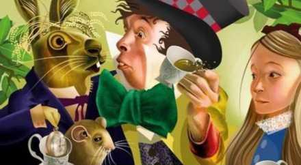 В Британии выпустили серию марок «Алиса в стране чудес»