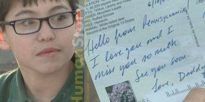 Мальчик получил открытку от отца через два года после его смерти