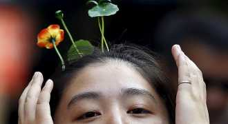 Растения на голове - новая мода в Китае