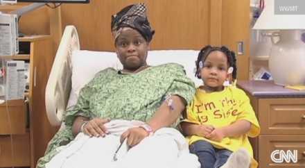 4-летняя девочка спасла беременную маму