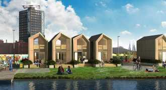 Мобильные экологичные дома для молодёжи появились в Амстердаме