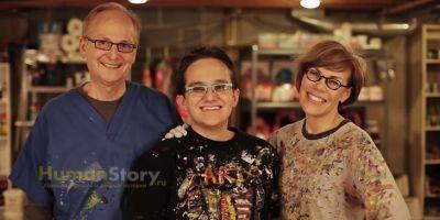 Слепой художник заработал и отдал на благотворительность миллион долларов