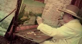 15 картин Уинстона Черчилля продают на аукционе в Лондоне