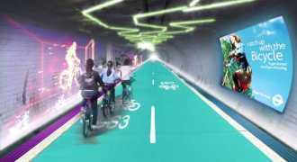 В Лондоне построят подземные пешеходные и велодорожки