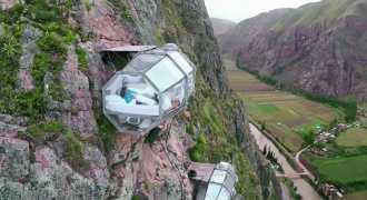 Капсульный отель миллион звёзд открылся на горе в Перу