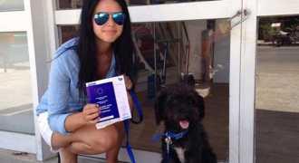 Греческая дворняжка спасла британскую туристку от нападения и обрела дом